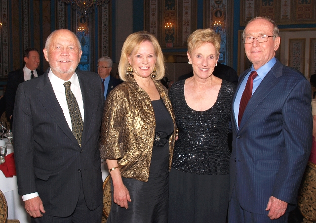Rick and Geri Crawford, from left, and Bonnie and Richard Bryan