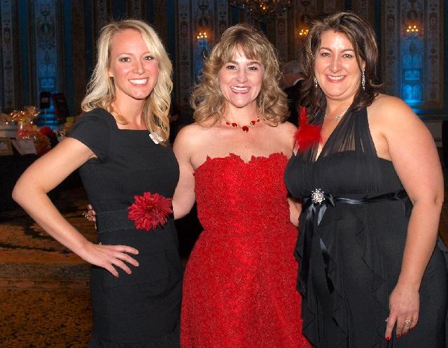 Katie Horn, from left, Britta Carlson and Sonnya DeBonis