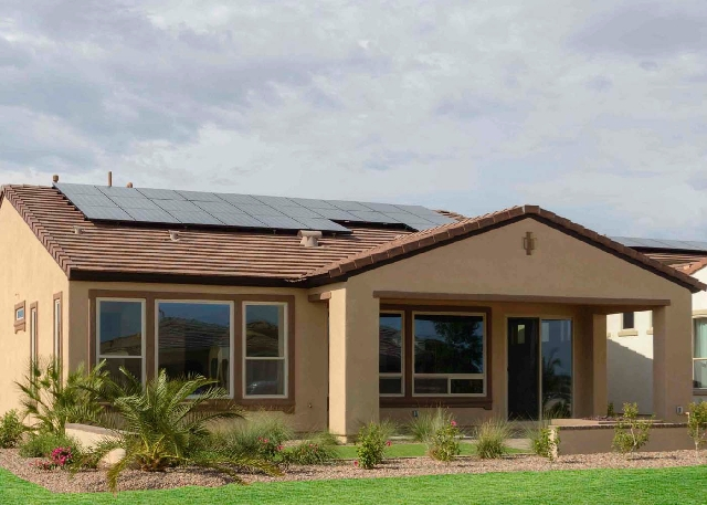 Shea Homes at Ardiente features the SheaXero that comes with a solar power system and helps saves on energy bills.