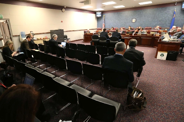 The crowd in the Assembly Government Affairs Committee room in the Legislative Building in Carson City can run from sparse to overflowing into another room, depending on the bills that are being d ...