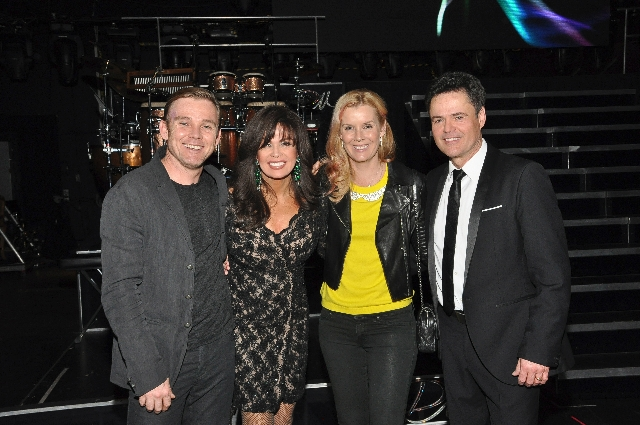 Rick Schroeder and wife Andrea checked out Donny & Marie at the Flamingo Las Vegas.
