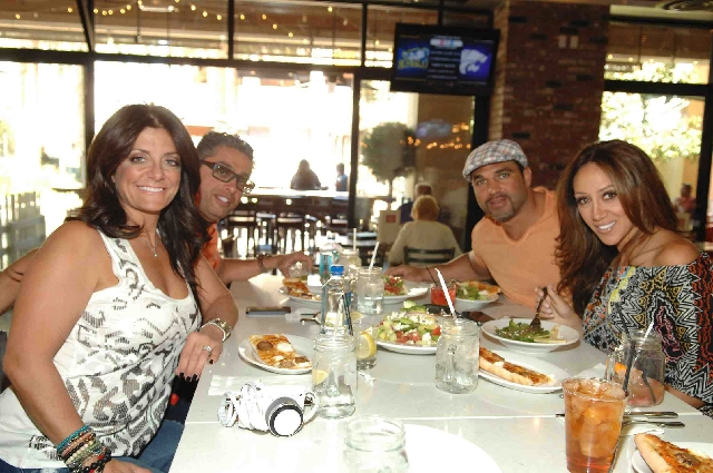 "Melissa Gorga of ""The Real Housewives of New Jersey"" took hubby Joe plus cast members Kathy and Rich Wakile to Meatball Spot on Friday."