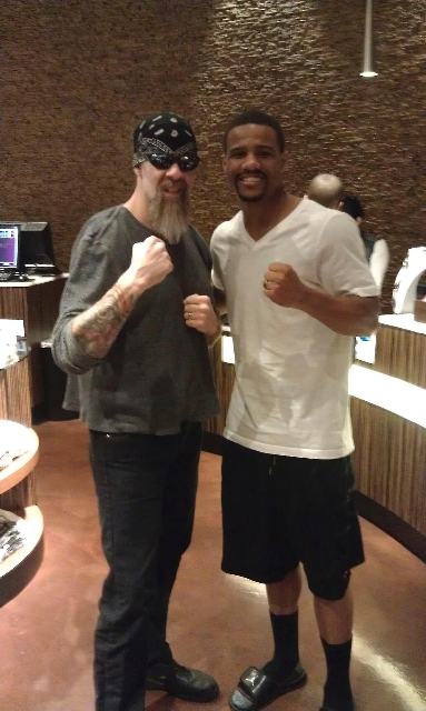 Super middleweight boxer Andre Dirrell got a tattoo removed Friday at Club Tattoo in Planet Hollywood Resort on Friday.