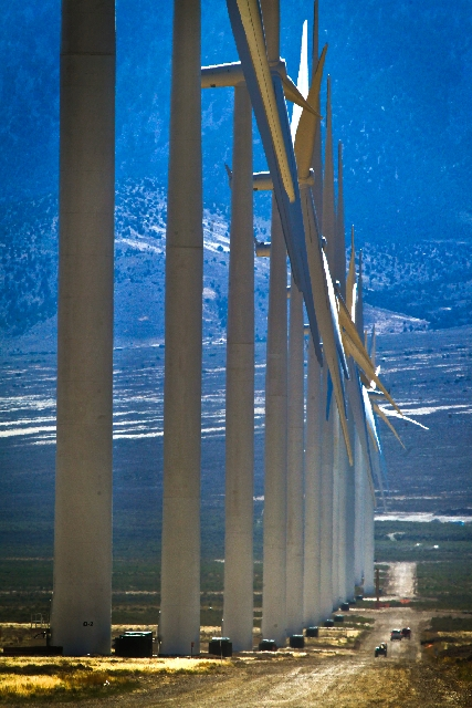The $225 million Spring Valley Wind Farm went online in August as the first utility-scale wind farm in Nevada and the first to be built on federal land in the United States.