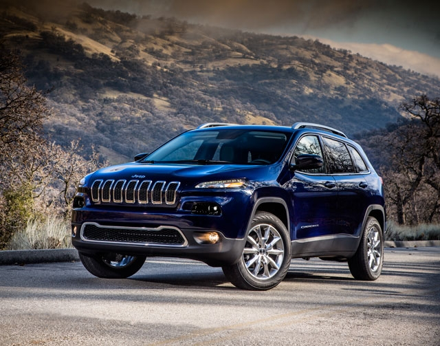 This undated product image provided by Chrysler shows the 2014 Jeep Cherokee Limited. The 2014 Cherokee midsize SUV makes its debut Wednesday at the New York International Auto Show. The remake is ...