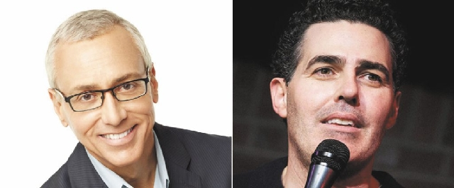 "Dr. Drew Pinsky, left, and Adam Carolla are taking part in a ""Loveline"" reunion show Friday night at Mandalay Bay."