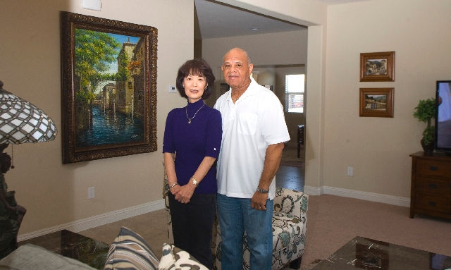 Jimmy and Chieko Bailey recently moved into their second Pardee Home at LivingSmart Homes Providence in the northwestern valley.