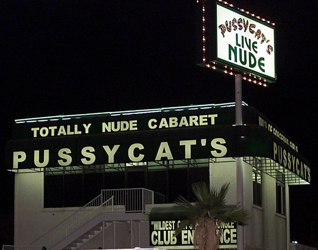 Pussycats Adult Nightclub, shown here in a file photo, would be one club that would have to change the rules if a bill in the Nevada Senate passes. Senate Bill 413 would prohibit anyone younger th ...