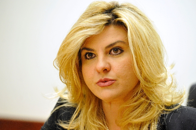 Assemblywoman Michele Fiore, R-Las Vegas, opposed a bill letting domestic violence victims break rental contracts.