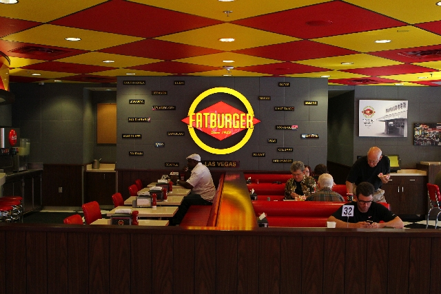 Lunch time at Fatburger, located at 3763 Las Vegas Blvd., is shown on Nov. 6. 2012.