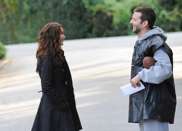 "Oscar winner Jennifer Lawrence and Bradley Cooper star in ""Silver Linings Playbook."""