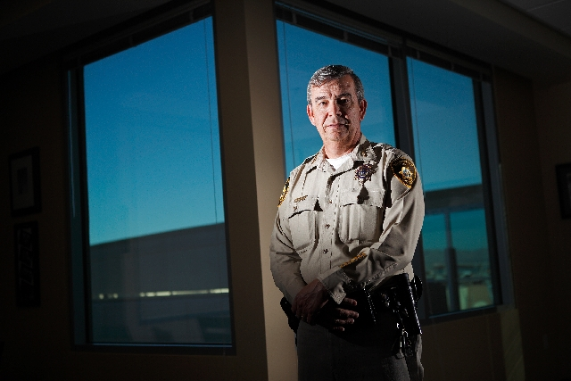 Las Vegas Sheriff Doug Gillespie poses for a portrait in his office in Las Vegas on Nov. 2, 2011.