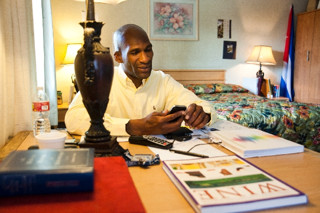 Army veteran Ohiji Corbin relaxes at Veterans Village, where he's lived since February. He doesn't know how long he'll stay, but is grateful for a room to call his.