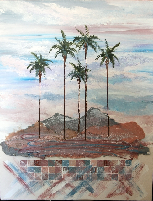 """Signed prints of Mark Vranesh's signature """"Palms"""" piece will be sold at Art at the Market, with proceeds benefiting Transition Services."""