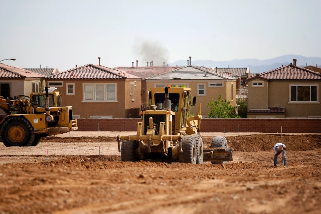 Lots are graded March 25 at Serenada by Harmony Homes at Mountain's Edge in southwestern Las Vegas.
