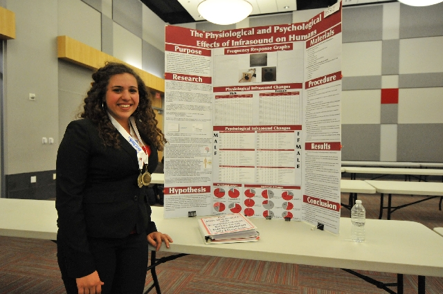 Coral Academy of Science Las Vegas sophomore Sarah DiSalvo, 15, won first place March 19 at the Beal Bank USA Southern Nevada Regional Science and Engineering Fair. Sarah is scheduled to compete i ...