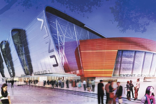 Artist's rendering of the UNLVNow Stadium and Event center proposal revealed in January.