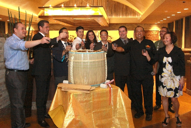 The March 20 grand opening of the new Zenshin Asian Restaurant in the South Point, 9777 Las Vegas Blvd. South, included a sake barrel opening ceremony commonly known as Kagamiwari. Zenshin is a Ja ...
