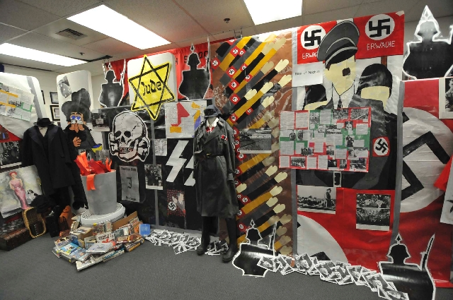 The Holocaust museum at Las Vegas High School is an annual teaching method organized by history teacher Dan Robinson. Students created murals and set up the artifacts in a classroom. Teachers use  ...