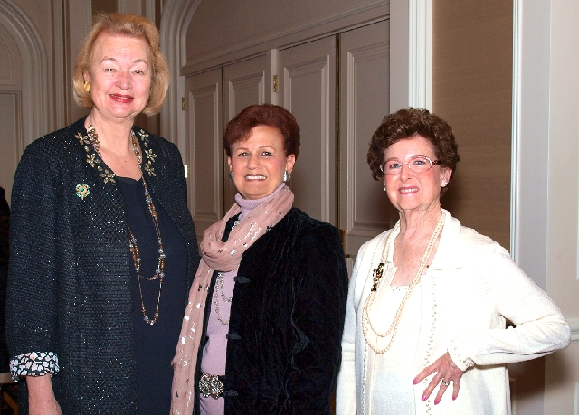 Luana DeVol, from left, Marian Cleff and Betty Miller