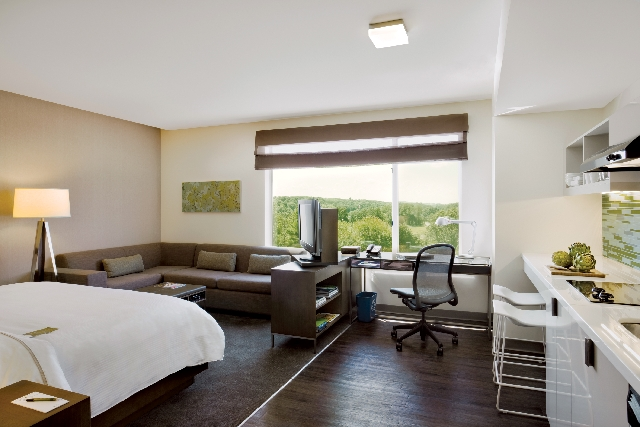 Element Las Vegas Summerlin guest rooms reflect the smart sensibilities of going green, with Energy Star qualified kitchen appliances, eco-friendly bath fixtures and recycling bins for paper, plas ...