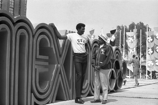 Spencer Haywood, shown at the Olympic Village in 1968 in Mexico City, was coached by Jerry Tarkanian during the Olympic trials that year, and Haywood led the U.S team to gold.