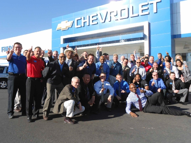 Members Of Findlay Chevroletu0027s Staff Celebrate Receiving A Chevrolet Dealer  Of The Year Award For The