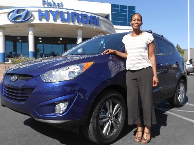 Crystal Jamerson bought a 2013 Tucson from Planet Hyundai Sahara.