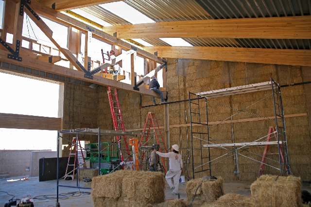 The Springs Preserve buildings include sustainable features such as straw bale insulation.