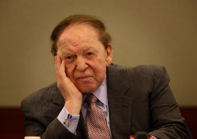 Las Vegas Sands Chairman and CEO Sheldon Adelson testifies Thursday at the Clark County Regional Justice Center.