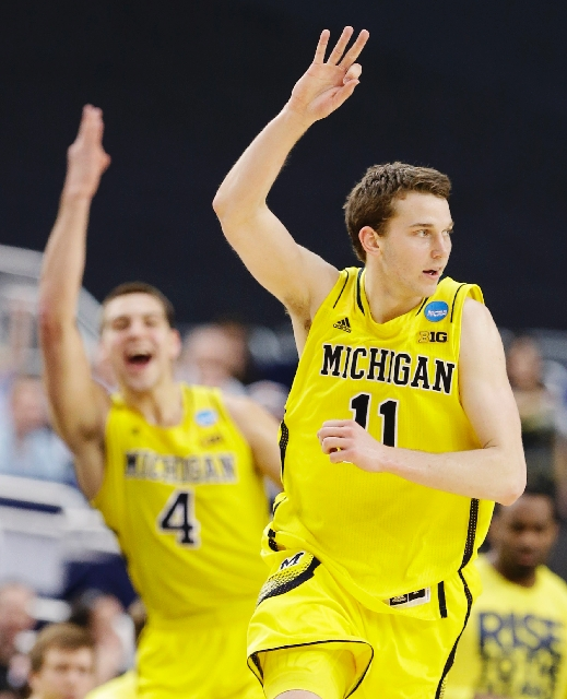 Michigan freshman guard Nik Stauskas could be the unsung hero tonight, but he's blown hot and cold as a 3-point shooter during the NCAA Tournament.