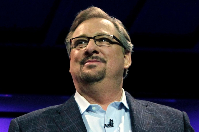 "Megachurch pastor Rick Warren, seen in 2010, posted a message on Twitter on Sunday saying he was ""overwhelmed"" by the love and support offered after the apparent suicide of the younges ..."