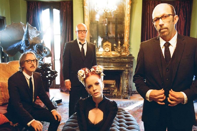 Garbage, with singer Shirley Manson, saved money so that they could become independent of the record company system. They play Friday at the Palms' Pearl.
