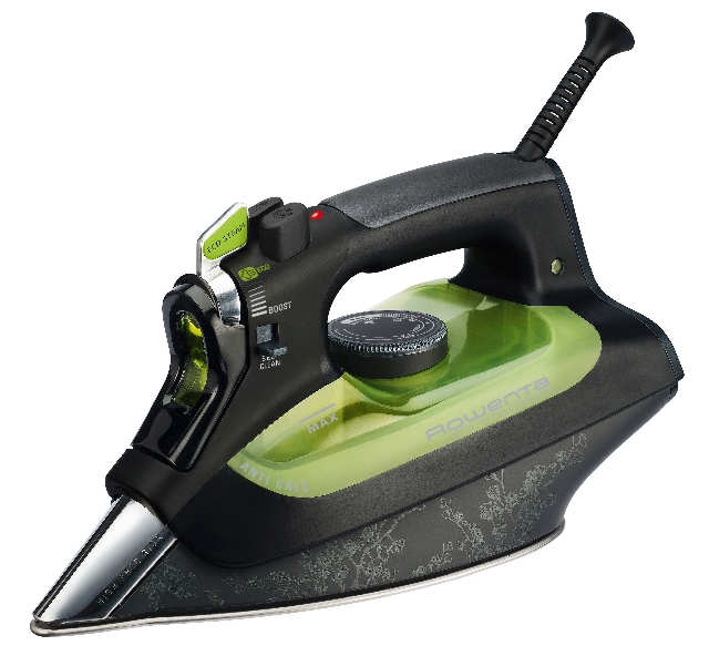 Rowenta's Eco Intelligency iron uses 25 percent less energy and saves water.