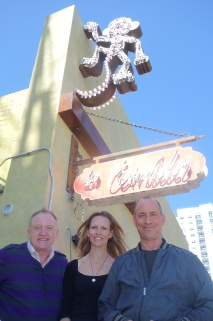 Bartender John O'Donnell, left, is shown with Jenna and Michael Morton outside La Comida, their soon-to-open Mexican restaurant downtown.