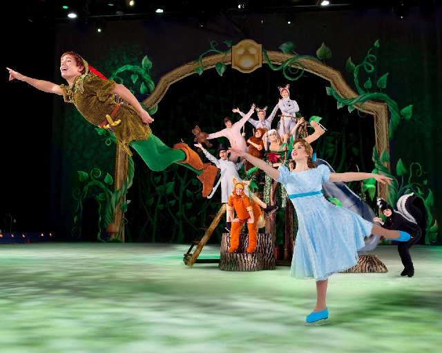 """Peter Pan and Wendy will be among the many familiar characters lacing up skates for """"Disney on Ice."""" The show will also feature lions from """"The Lion King"""" and princesses."""