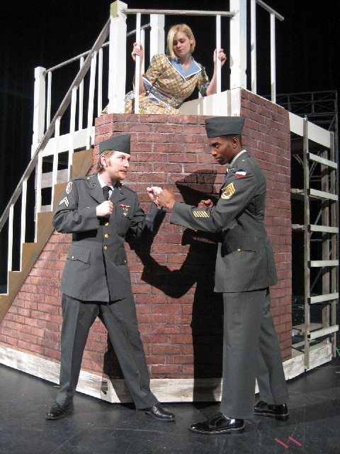 """From left, Jeff Strong, Kelly Albright and Julian Crider star in """"Violet,"""" coming to the Nicholas J. Horn Theatre at the College of Southern Nevada."""