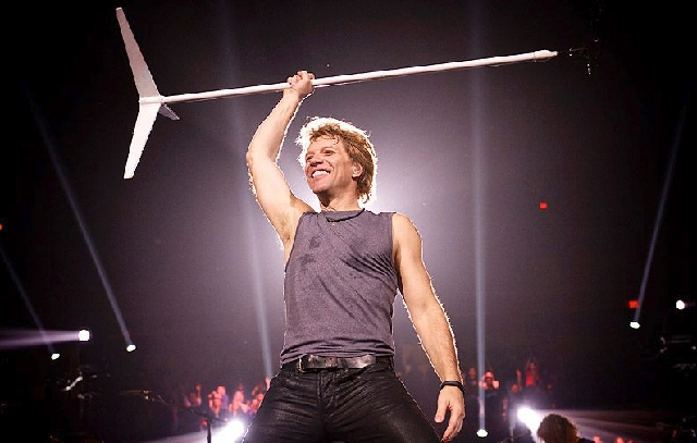 Jon Bon Jovi gives the audience what it wants in his almost three-hours onstage. Bon Jovi will be appearing Saturday at MGM Grand.