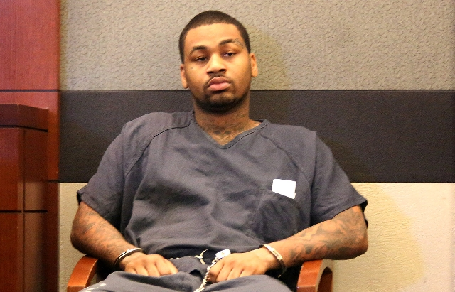 Ammar Harris, a self-described pimp accused of killing three people in a shooting and fiery crash on the Las Vegas Strip, makes his first appearance in Clark County Justice Court on April 17. Harr ...