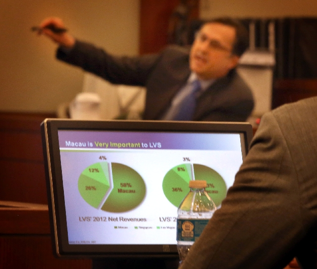 Walter Bratic, an expert accountant for businessman Richard Suen, testifies Wednesday at the Clark County Regional Justice Center.