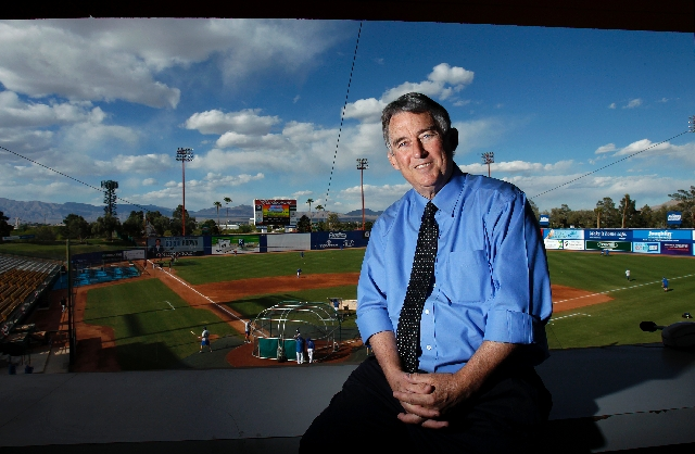 "Pacific Coast League president Branch Rickey III, shown Wednesday at Cashman Field for the Cashman Center's 30th anniversary reception, was invited to be an adviser for the film ""42"" but declined  ..."
