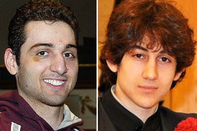 These photos show Tamerlan Tsarnaev, 26, left, and Dzhokhar Tsarnaev, 19. The ethnic Chechen brothers, suspects in the Boston marathon bombing, lived in Dagestan, which borders the Chechnya region ...