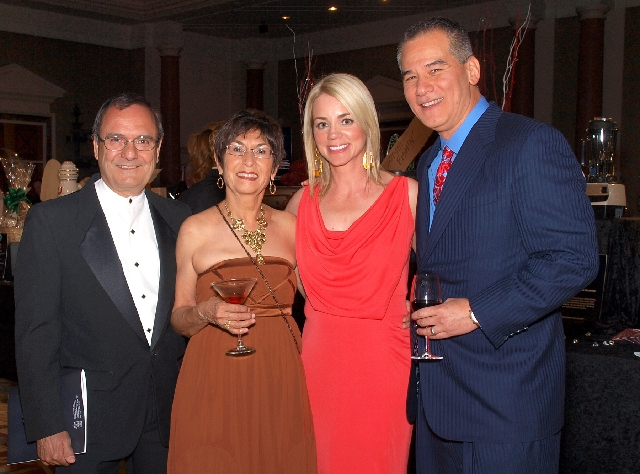 Stephen and Linda Montoya, from left, and Kelly and Brian Iriye at the Chefs for Kids gala