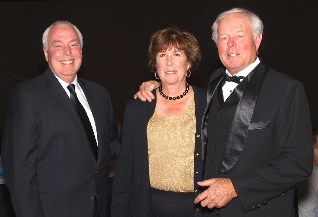 Steve Walsh, from left, and Peggy and Ray Grimm at the Chefs for Kids gala