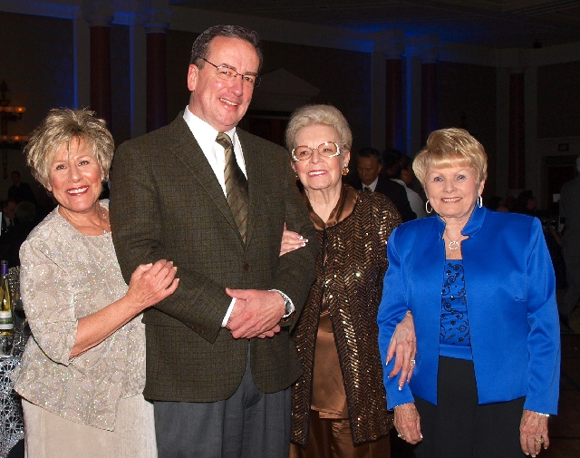 Sally McKinney, from left, Brian Burton, Janice Allen and Linda Givens at the Chefs for Kids gala