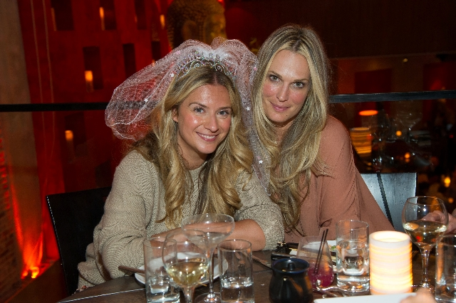 Actress Molly Sims hung with friends at a bachelorette party Saturday at Tao Asian Bistro in The Venetian before they went partying in club Tao.