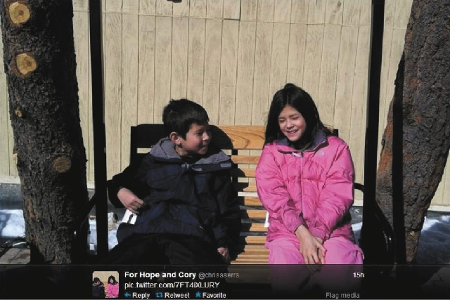 One of the photos posted on Twitter by @chrisaserra. Christopher Serra, is the father of  Cory Serra, 9, left, and  Hope Serra, 11, found murdered in a home on Wolf Pack Lane in southwest Las Vega ...