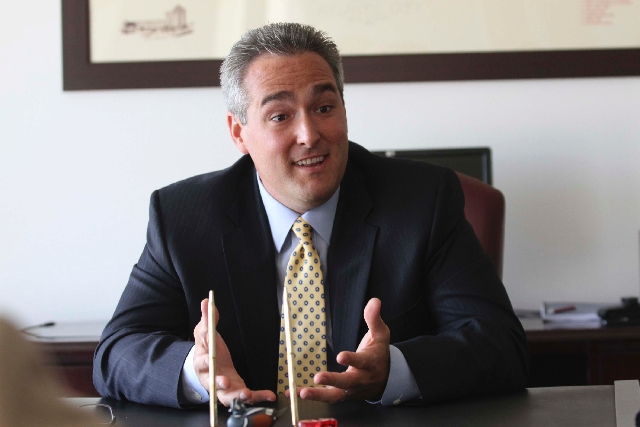 Matthew Levinson, new chairman of New Jersey's Casino Control Commission, is seen in a Sept. 26, 2012, interview. Levinson was appointed to a five-year term as the commission's seventh chairman in ...