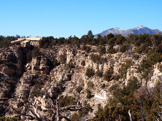 The trails in Walnut Creek Canyon offer expansive views of the area, including ancient cliff dwellings.