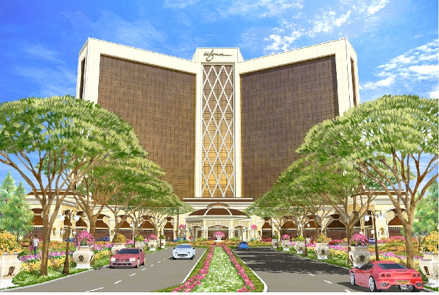 A Wynn Resorts hotel-casino proposed for Philadelphia is seen in this rendering . .   The project is expected to feature a 150,000-square-foot casino and a 300-room hotel.